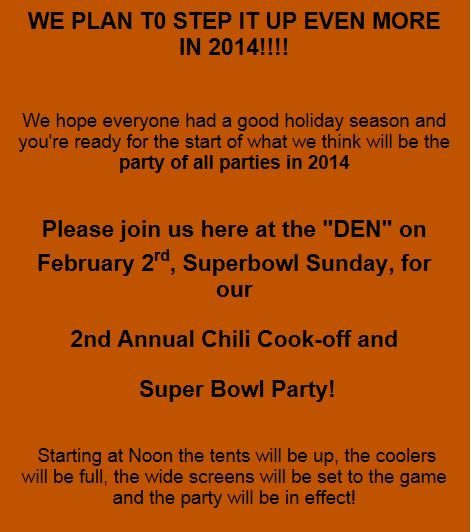 Florida) Smokers Den 2nd Annual Chili Cook-off and Super