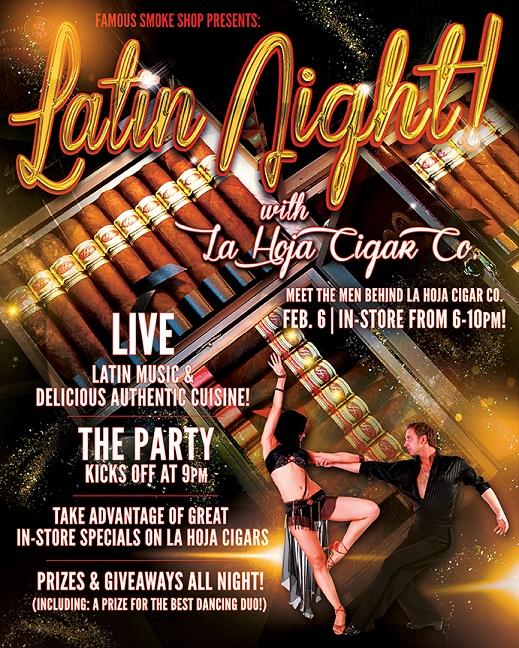 PA) Latin Night with La Hoja Cigar Co  at Famous Smoke shop