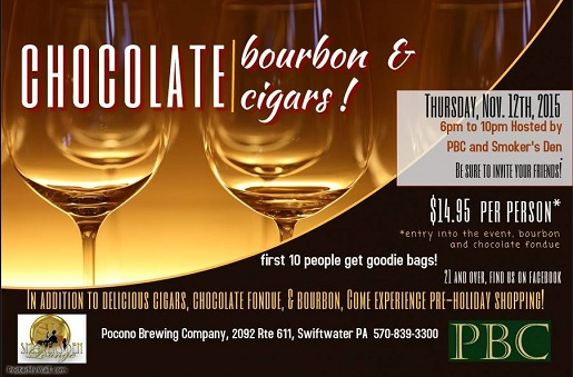 PA) CHOCOLATE, BOURBON AND CIGARS HOSTED BY POCONO BREWING COMPANY