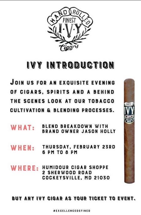 Courtesy of Ivy Cigar Co. & The Humidour Cigar Shoppe on the Hill