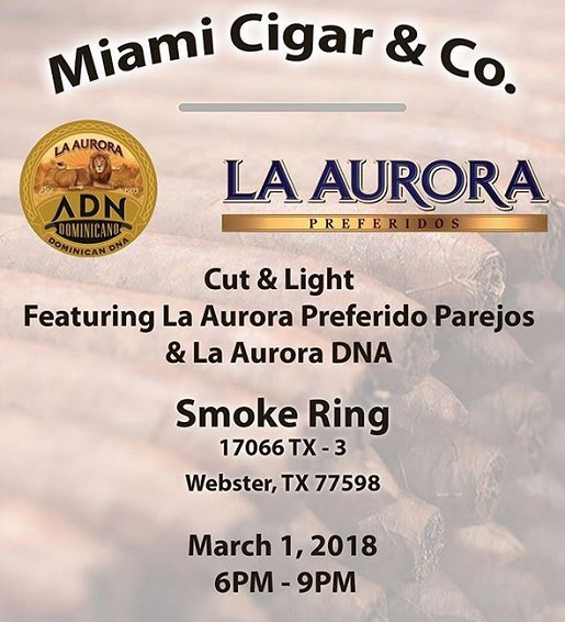 Miami Cigar Co  Events 2018! | Cigar Events