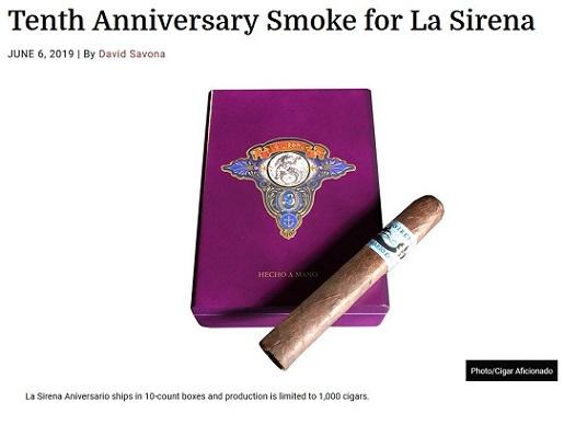 Courtesy of La Sirena Cigars and Cigar Aficionado Magazine